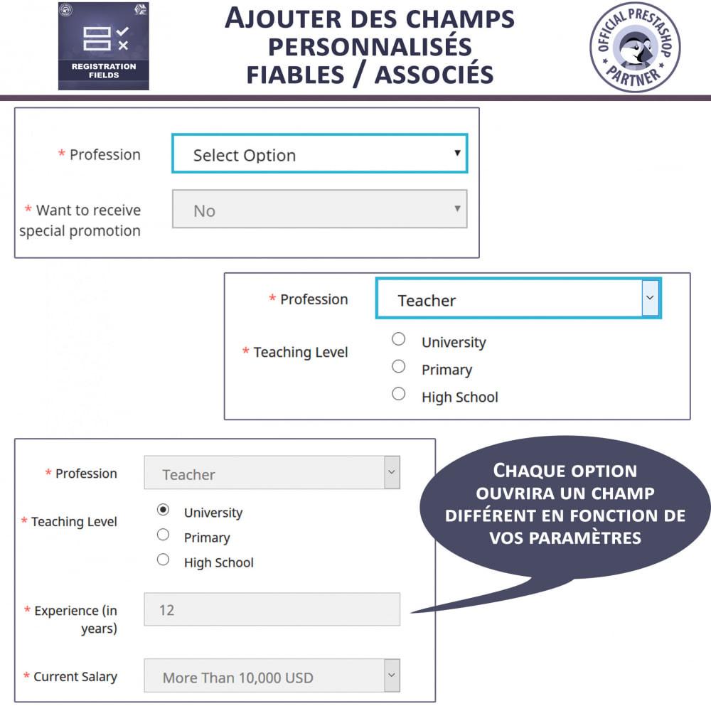 module - Inscription & Processus de commande - Champs d'inscription - Ajouter des champs personnalisés - 5