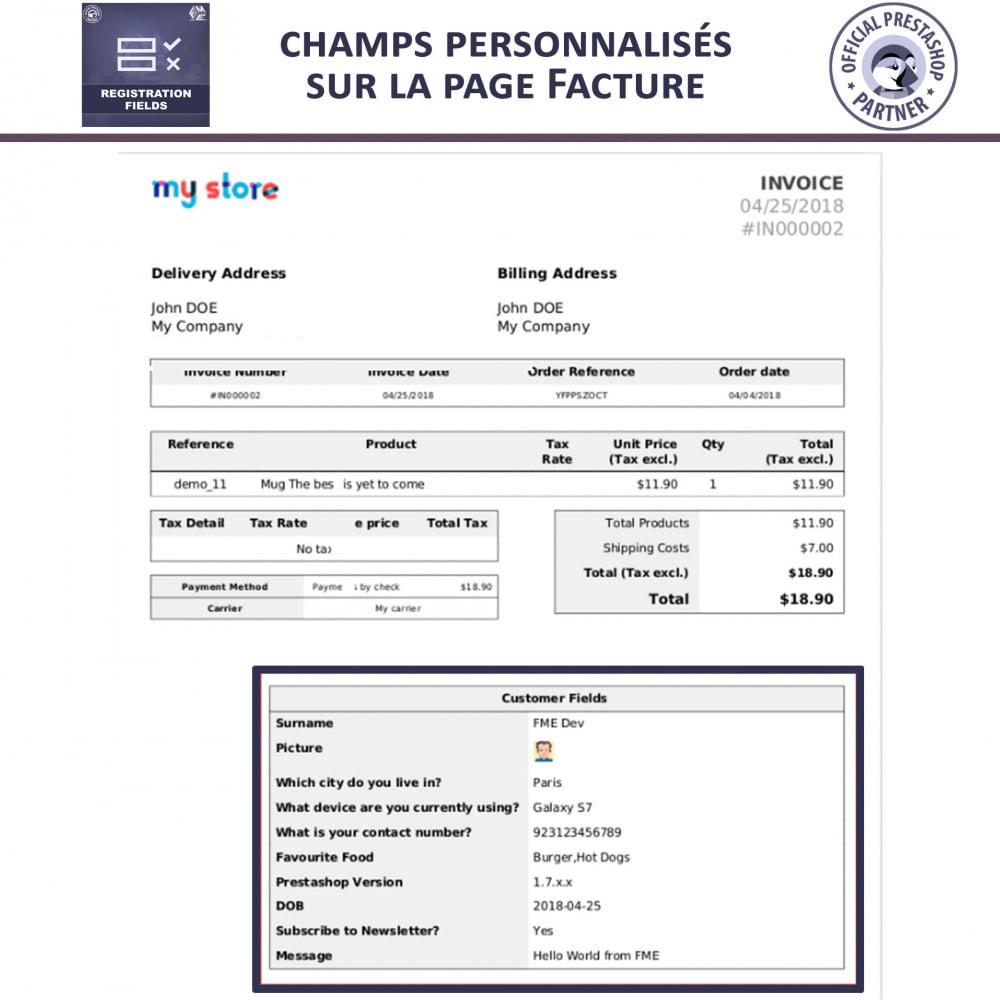module - Inscription & Processus de commande - Champs d'inscription - Ajouter des champs personnalisés - 8