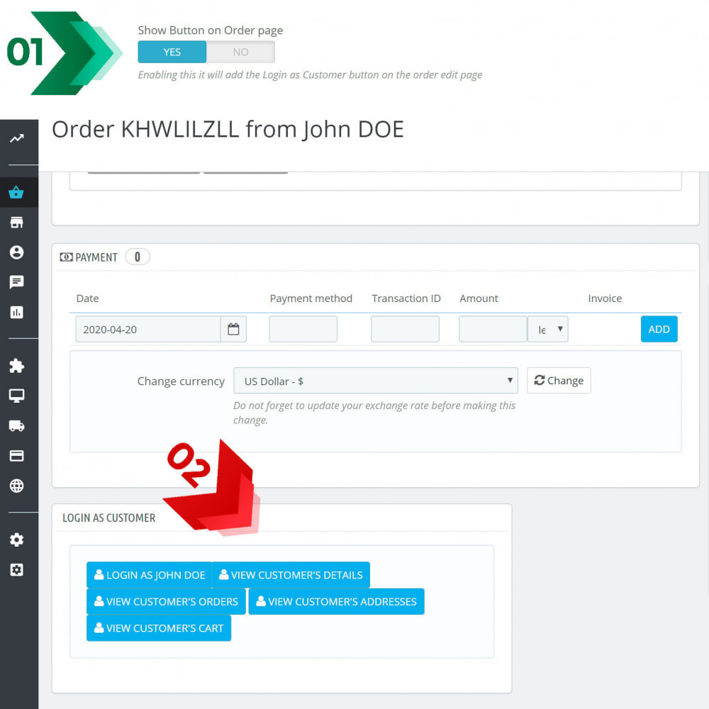 module - Przyciski do logowania  & Connect - Login as customer PRO - 7