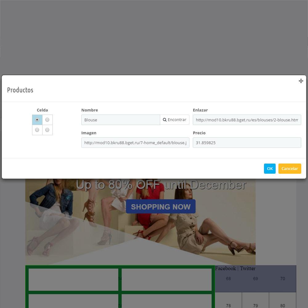 module - Newsletter y SMS - Custom Mailer SeoSA - De boletín de noticias - 12