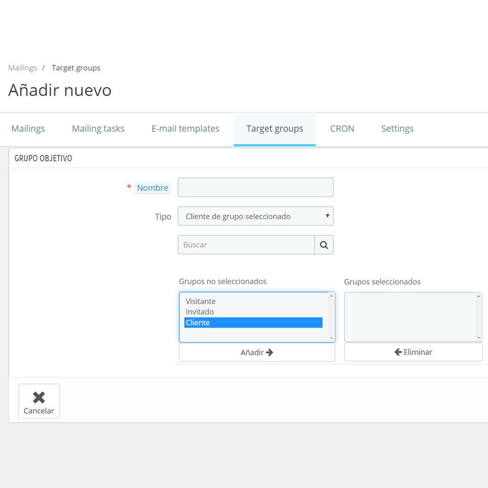 module - Newsletter y SMS - Custom Mailer SeoSA - De boletín de noticias - 16