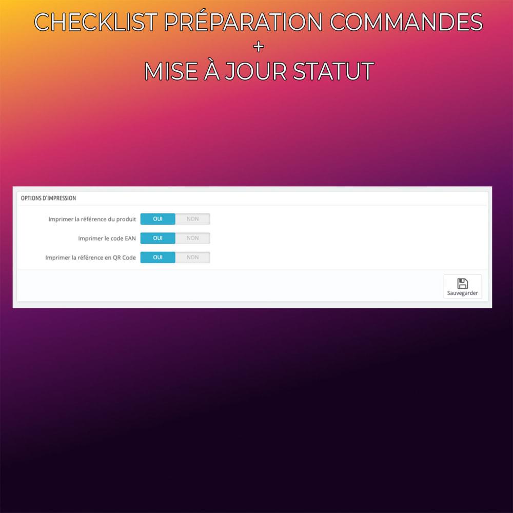 module - Gestion des Commandes - Checklist préparation commandes + Mise à jour statut - 3