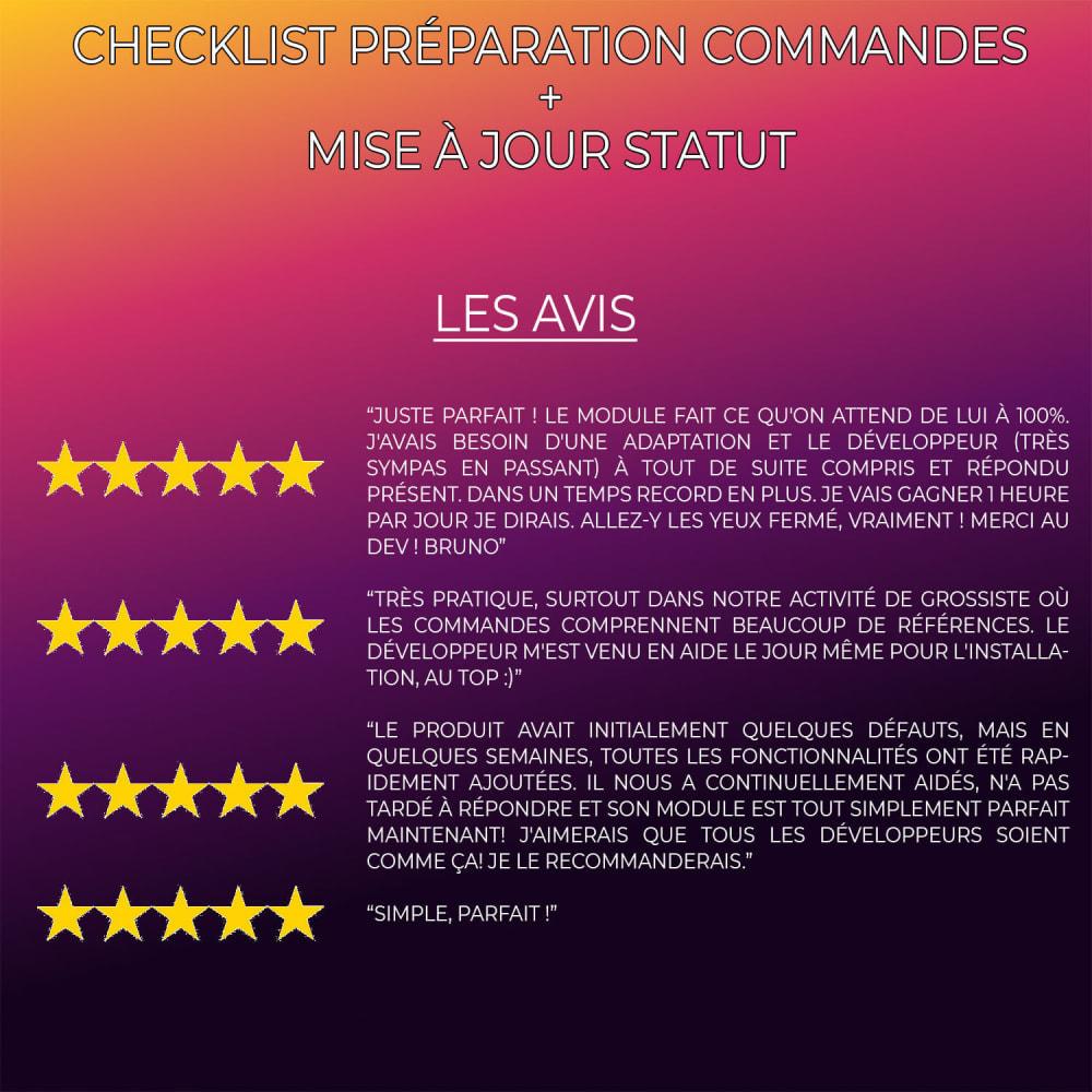 module - Gestion des Commandes - Checklist préparation commandes + Mise à jour statut - 6