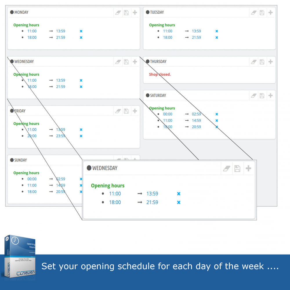 module - Administratieve tools - Opening hours and exceptional closures - 3