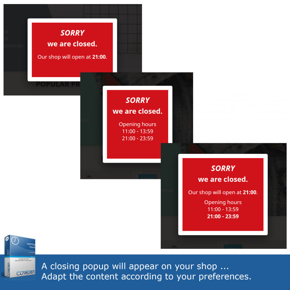 module - Administratieve tools - Opening hours and exceptional closures - 4