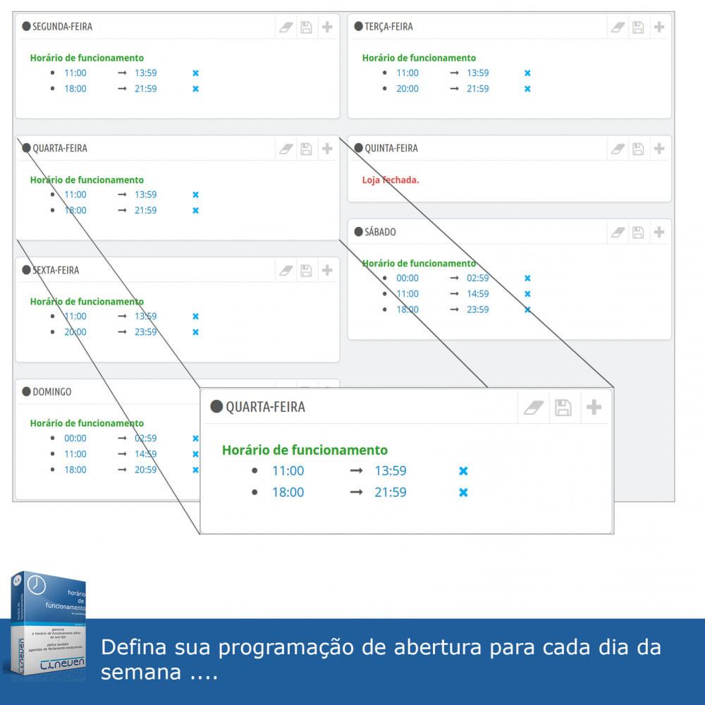 module - Ferramentas de Administração - Horário de funcionamento e fechamentos excepcionais - 3