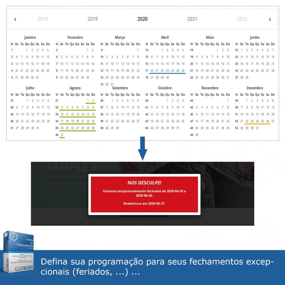 module - Ferramentas de Administração - Horário de funcionamento e fechamentos excepcionais - 5