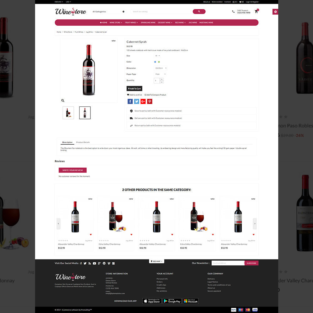 theme - Getränke & Tabak - The Wine Store – France Wine Shop - 4