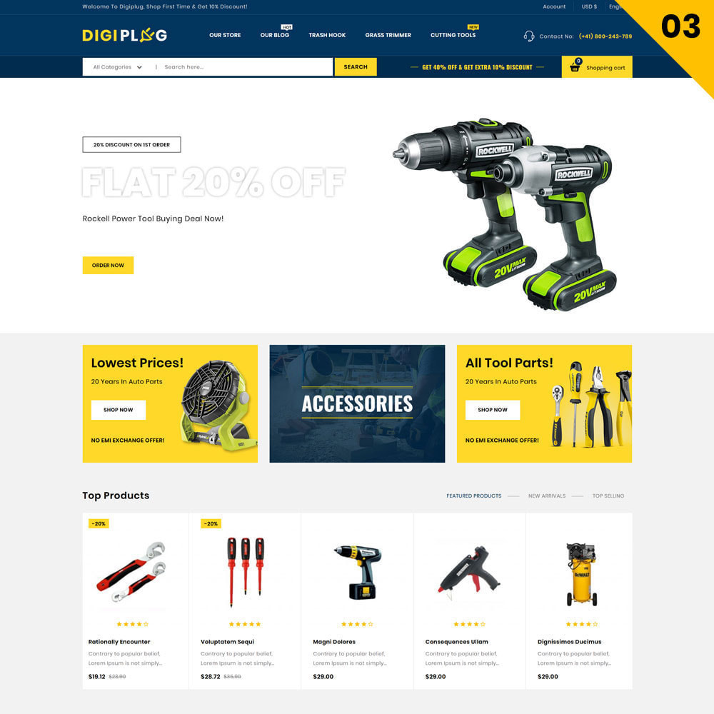 theme - Electronique & High Tech - Digiplug - The Mega Electronic Shop - 5
