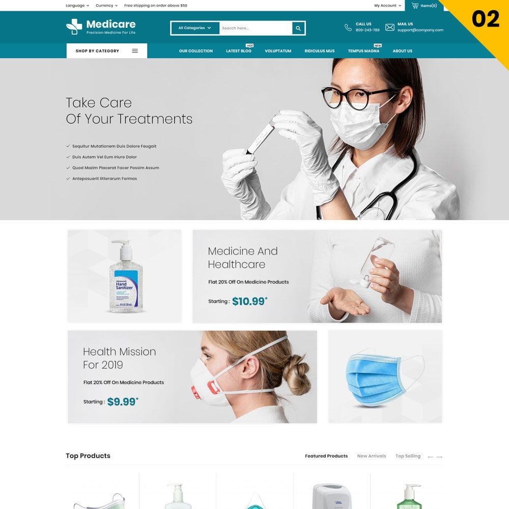 theme - Gezondheid & Schoonheid - Medicare - The Medical Store - 4