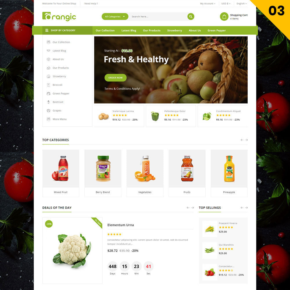 theme - Eten & Restaurant - Orangic - The Food Store - 5