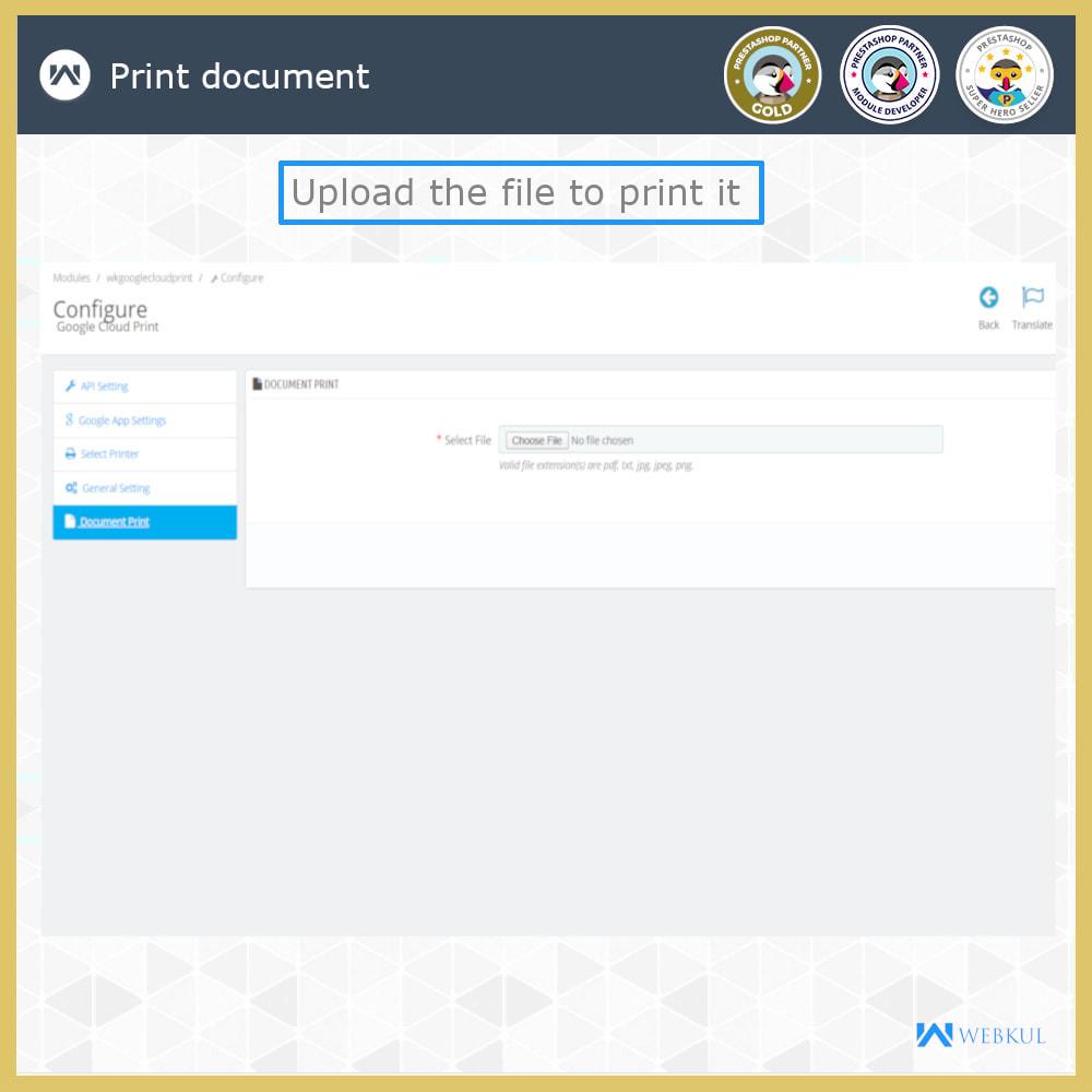 module - Подготовка и отправка - Google Cloud Print - 9