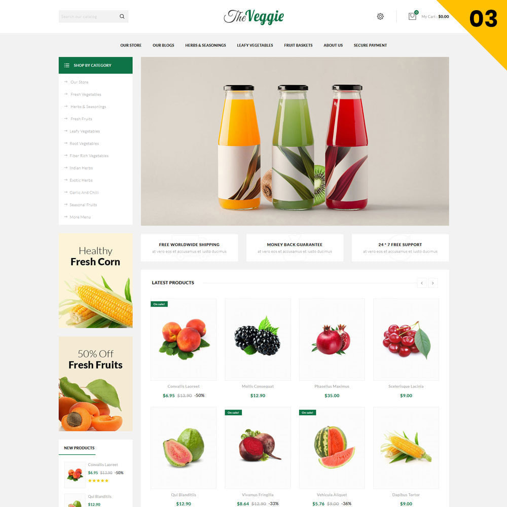 theme - Eten & Restaurant - Veggie  - The Organic Store - 5