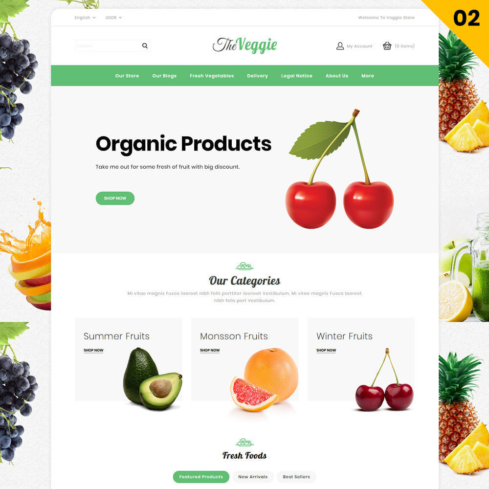 theme - Alimentation & Restauration - Veggie - Le magasin bio - 5