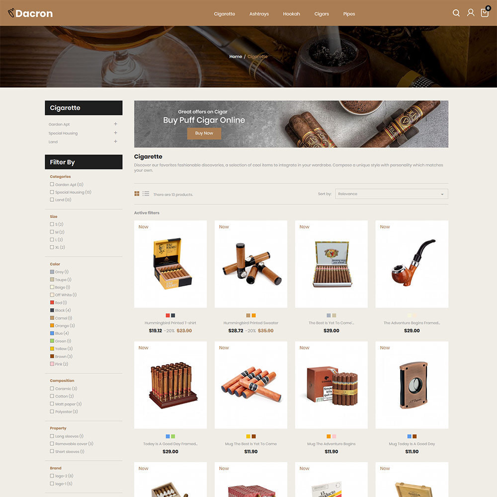 theme - Drink & Tobacco - Cigar - Drink, Alcohol, Liquor, Whisky, Tobacco store - 3