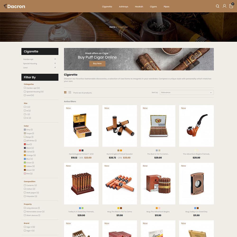 theme - Bebidas & Tabaco - Cigar - Drink, Alcohol, Liquor, Whisky, Tobacco store - 3