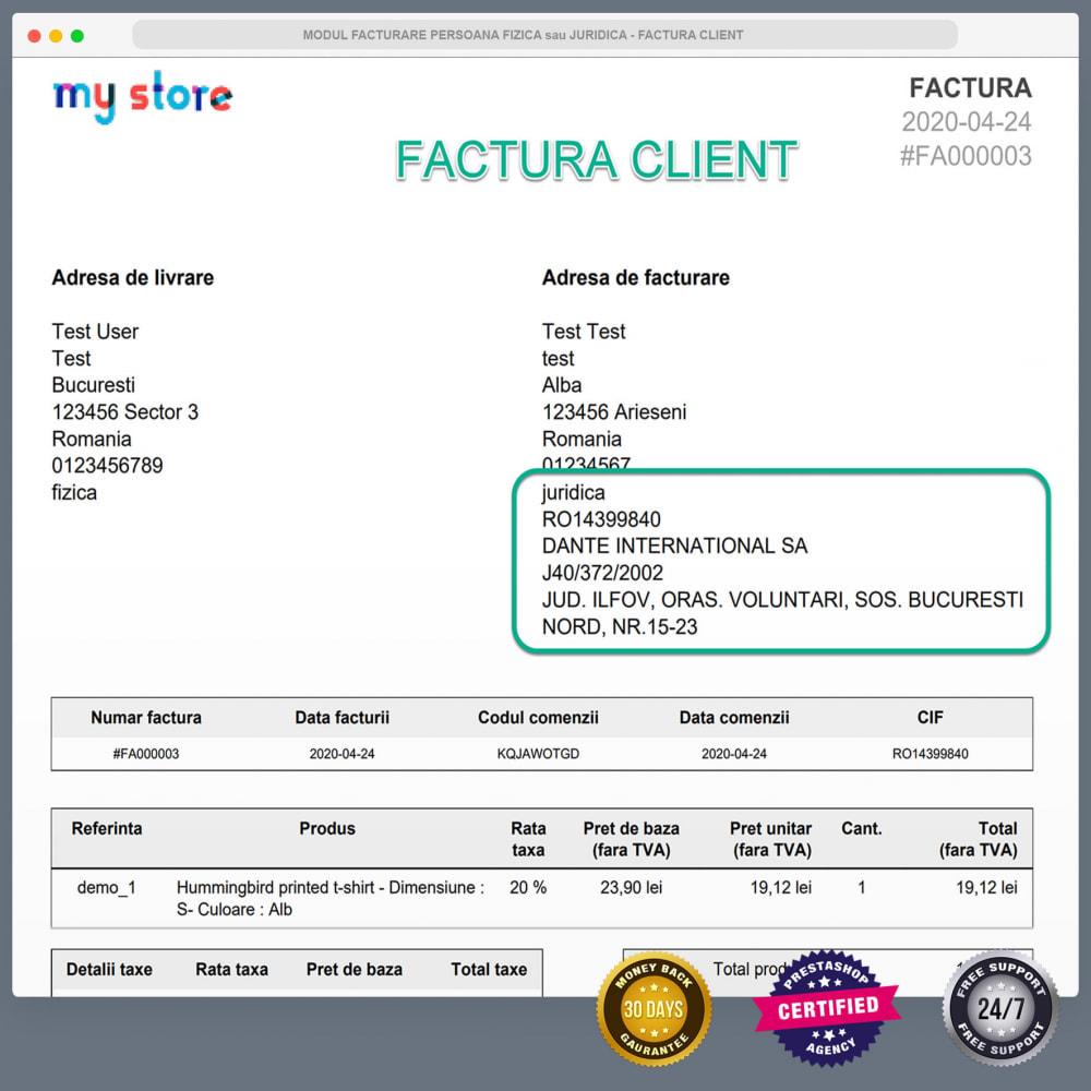 module - Buchhaltung & Rechnung - Facturare - Persoana Fizica sau Juridica - 10