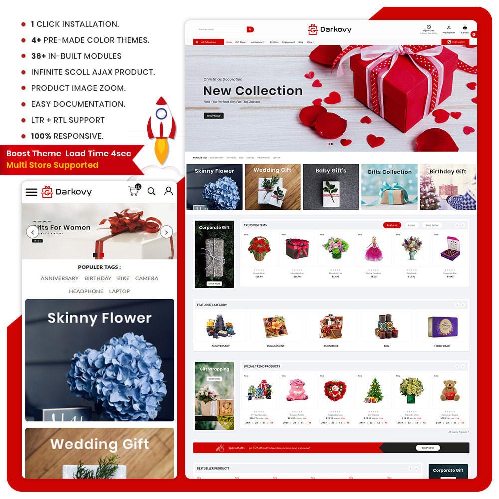 theme - Cadeaux, Fleurs et Fêtes - Darkovy Greeting–Mega Christmas–Gift Shop - 1