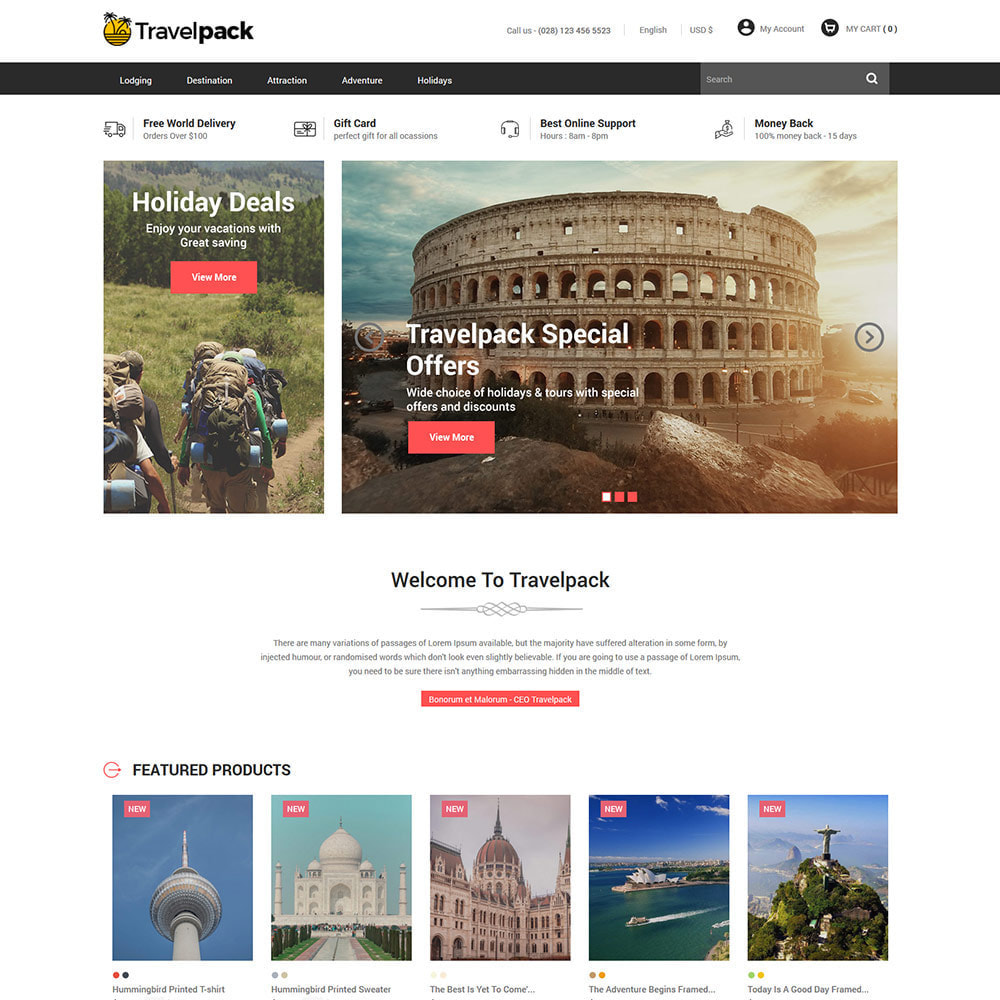 theme - Sports, Activities & Travel - Amazing Online Ticket Booking - Travel Store - 2