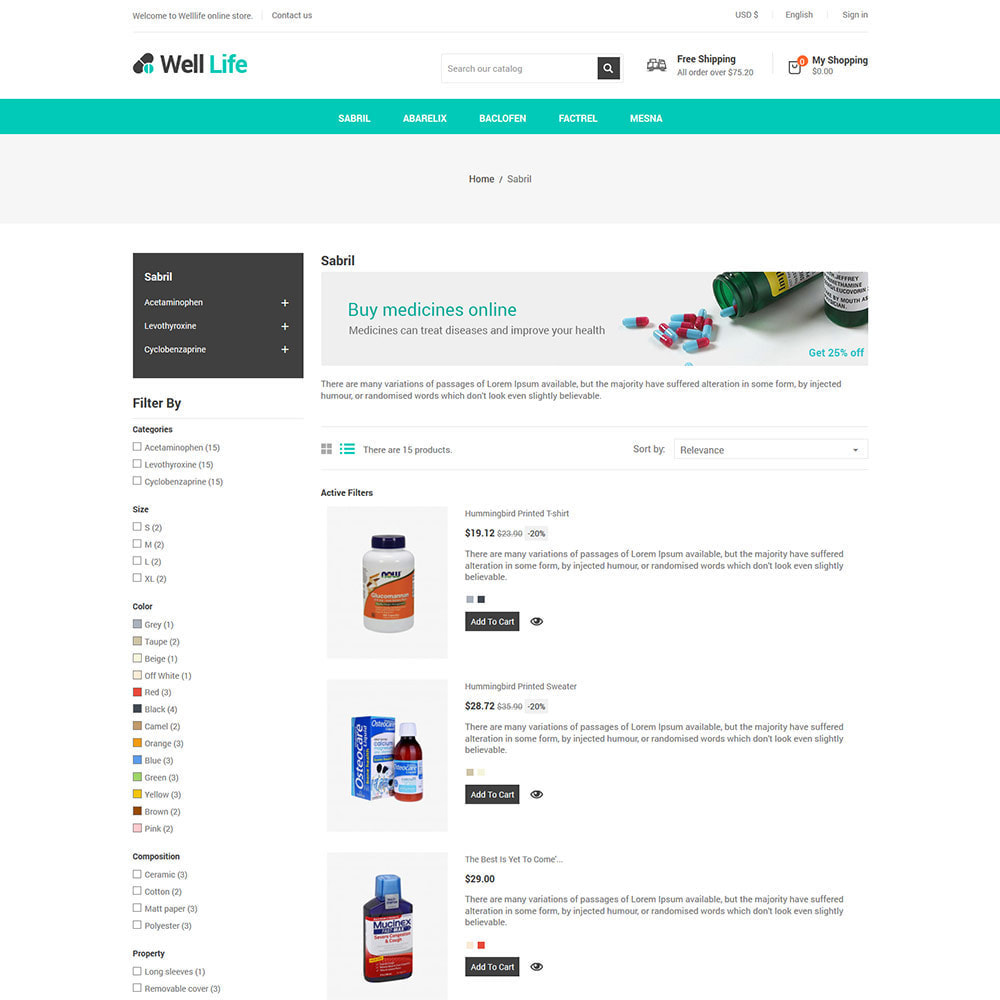 theme - Saúde & Beleza - Well Life - Medicine Medical  Drug  Pharmacy Store - 4