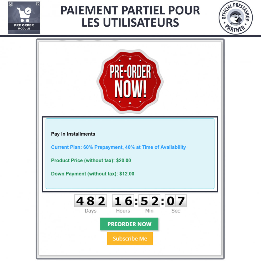 module - Inscription & Processus de commande - Pre-Order - Advance Booking   Out of Stock Selling - 5