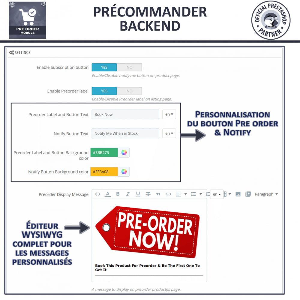module - Inscription & Processus de commande - Pre-Order - Advance Booking   Out of Stock Selling - 10