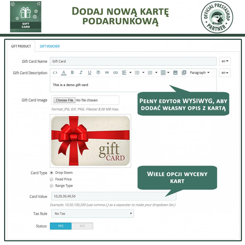 module - Lista życzeń & Karta podarunkowa - Karta Podarunkowa - 11