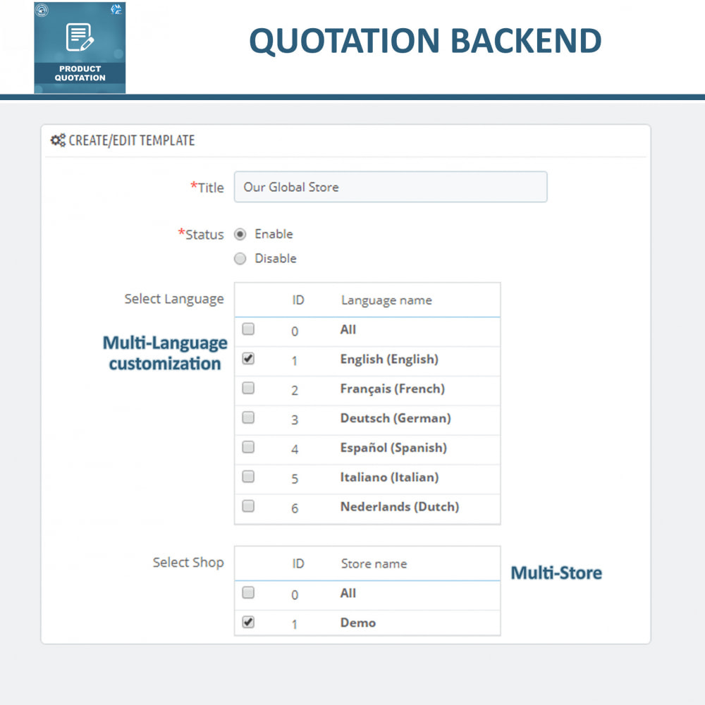 module - Quotes - Product Quotation - Allow Customer to Ask For Quote - 12