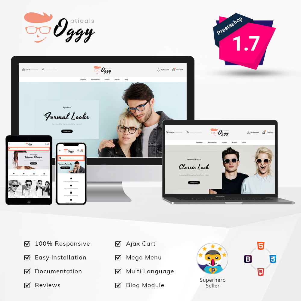 theme - Bellezza & Gioielli - Oggy - Opticals Shop - 1