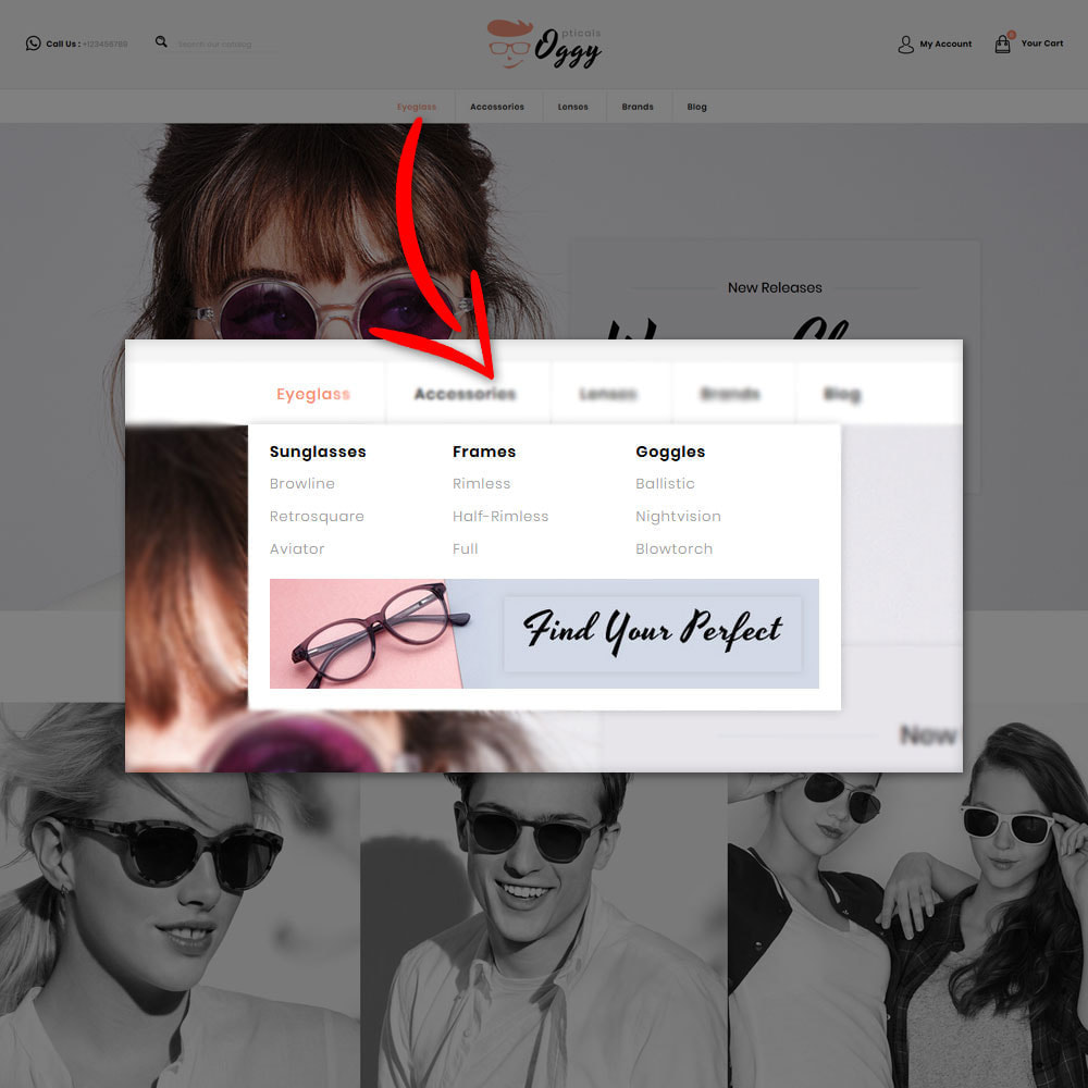theme - Jewelry & Accessories - Oggy - Opticals Shop - 9