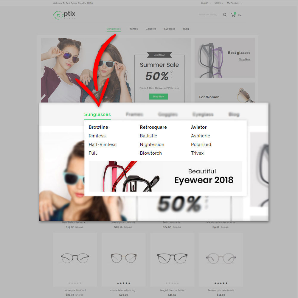 theme - Bellezza & Gioielli - Optix - Optical Shop - 8