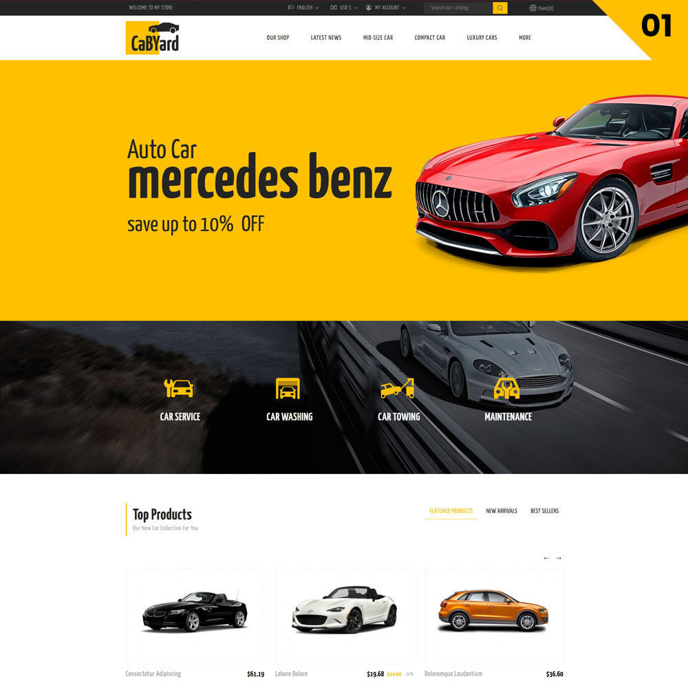 theme - Auto's & Motoren - Cabyard - The Multishop Car Dealershop - 3