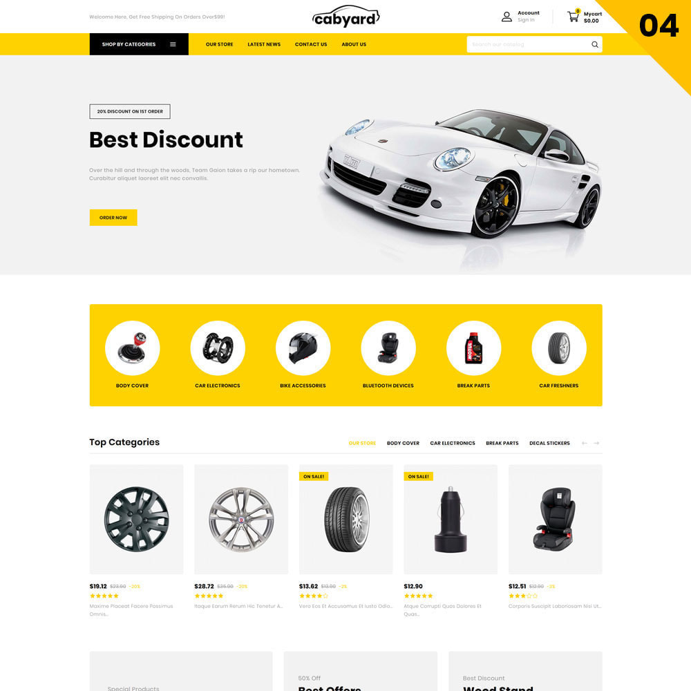 theme - Auto's & Motoren - Cabyard - The Multishop Car Dealershop - 6