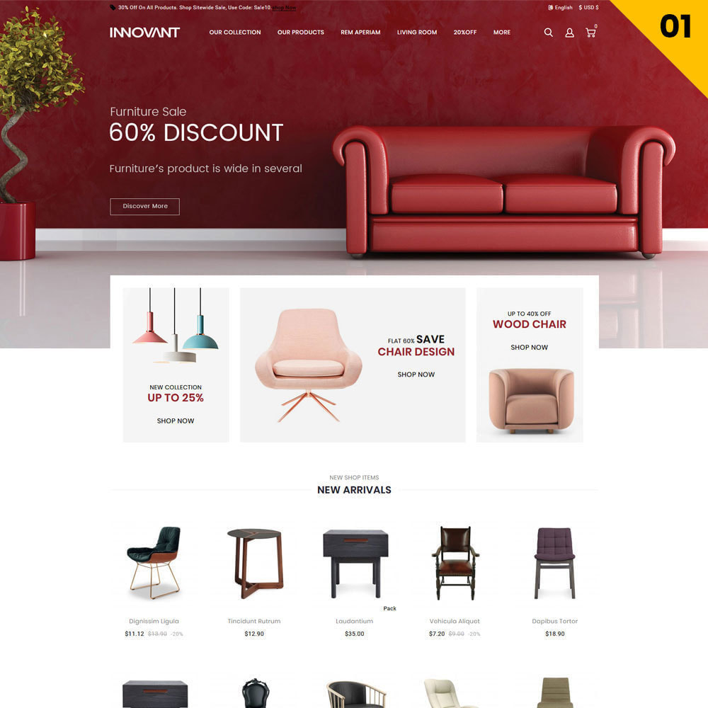 theme - Hogar y Jardín - Innovant - La tienda de muebles - 3