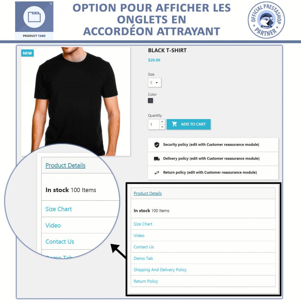 module - Information supplémentaire & Onglet produit - Onglets de Produits - 4