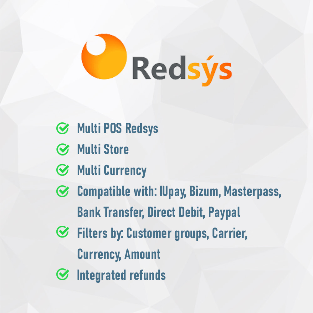module - Paiement par Carte ou Wallet - REDSYS POS (Refunds + Bizum + Pay without order) - 2