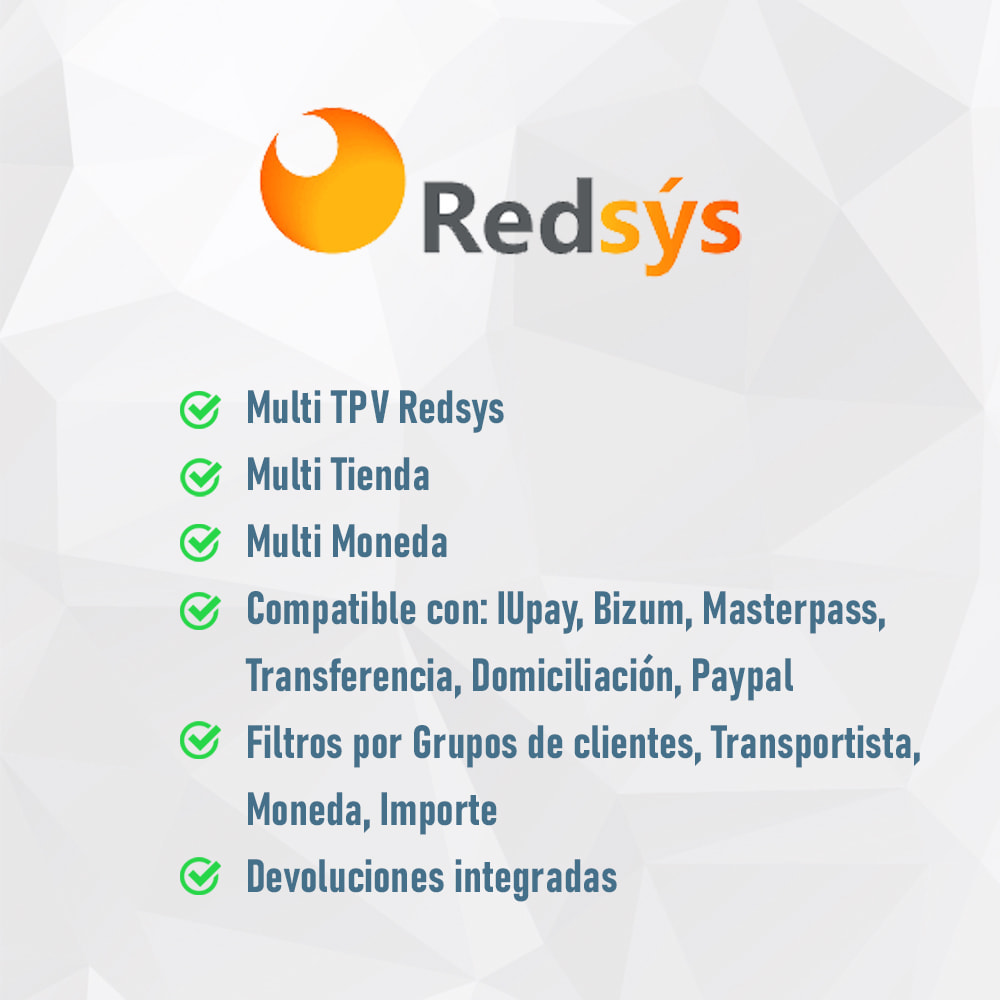 module - Pago con Tarjeta o Carteras digitales - TPV REDSYS (Devoluciones + Bizum + Pago sin pedido) - 2
