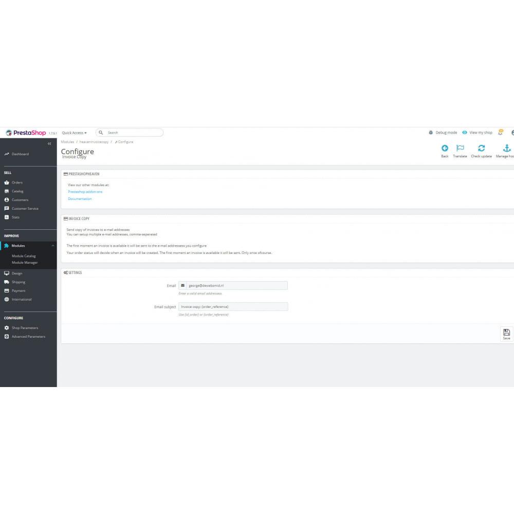 module - Boekhouding en fakturatie - Factuur pdf e-mail kopie - 3