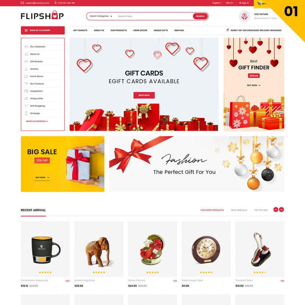 theme - Cadeaux, Fleurs et Fêtes - Flipshop - La boutique de cadeaux - 4