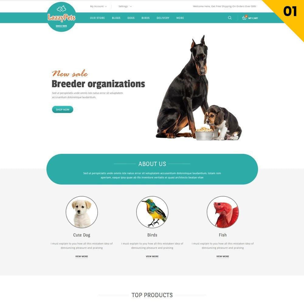 theme - Animales y Mascotas - lazzypets - la tienda de animales - 3