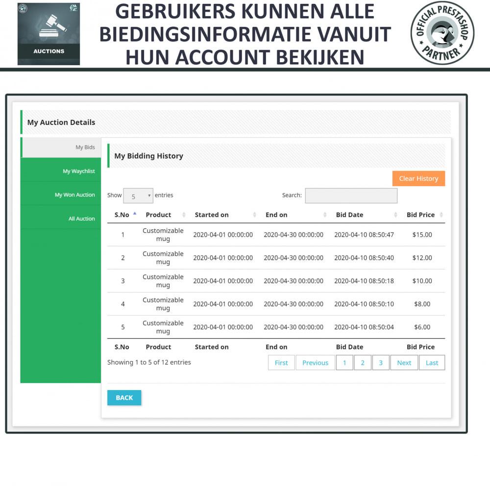 module - Bouw een veilingsite - Auction Pro, Online veilingen en biedingen - 23