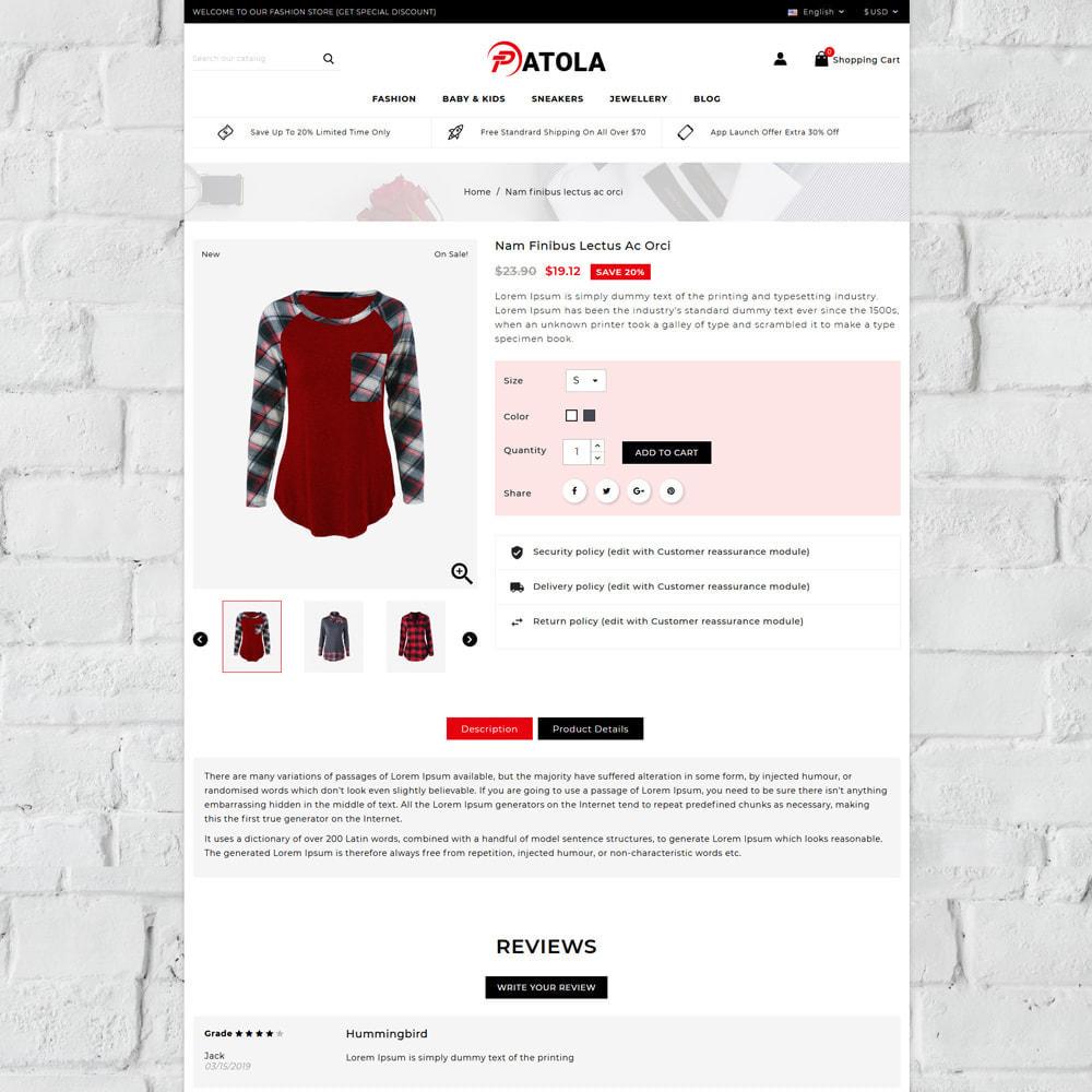 theme - Moda & Calçados - Patola - Fashion Store - 4