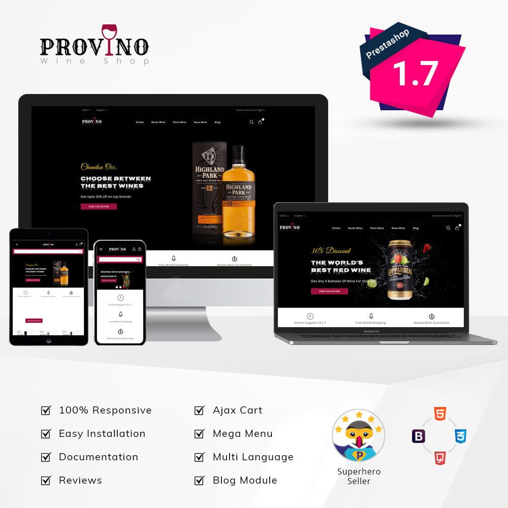 theme - Drink & Tobacco - Provino - Wine Shop - 1
