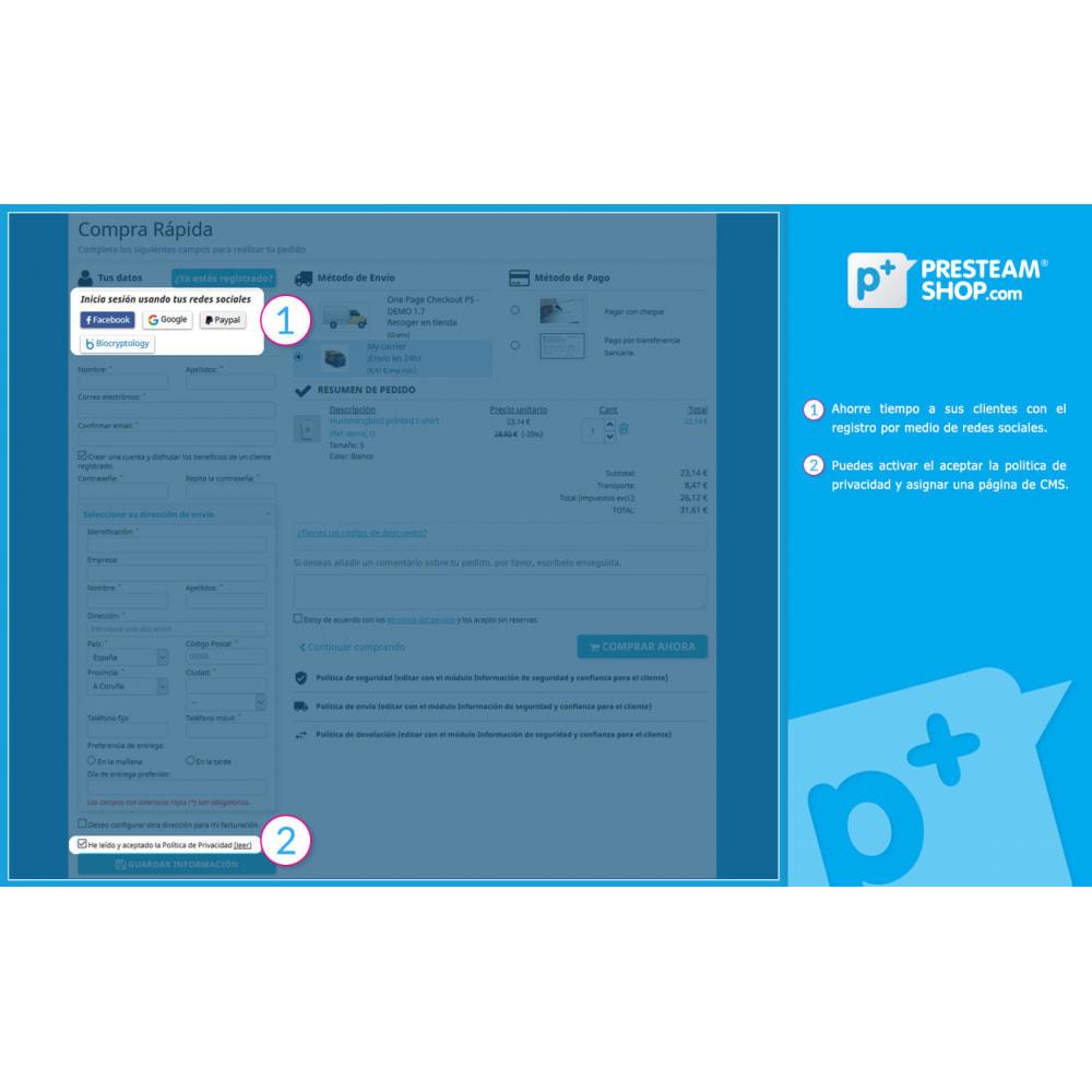 module - Proceso rápido de compra - One Page Checkout PS (Fácil, Rápido e Intuitivo) - 2