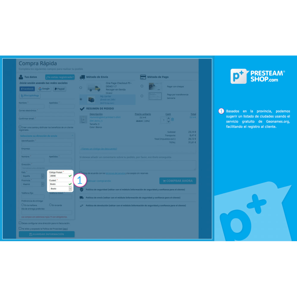 module - Proceso rápido de compra - One Page Checkout PS (Fácil, Rápido e Intuitivo) - 4