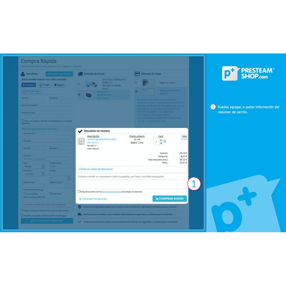 module - Proceso rápido de compra - One Page Checkout PS (Fácil, Rápido e Intuitivo) - 11