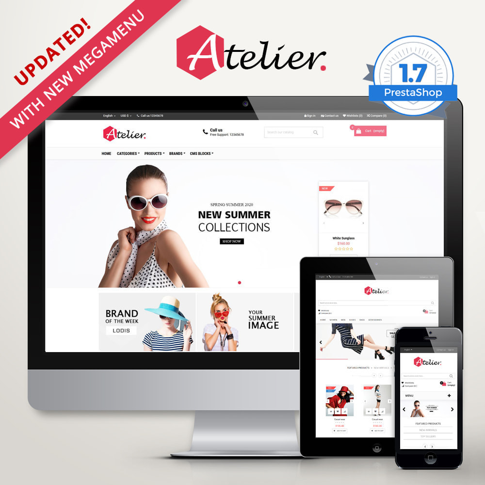 theme - Moda & Calçados - Atelier Fashion Multipurpose HTML5 - 1