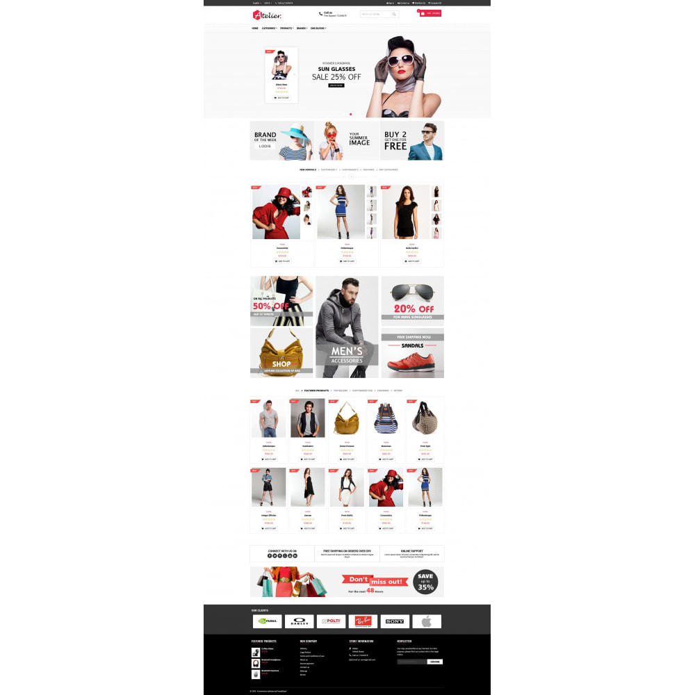 theme - Moda & Calçados - Atelier Fashion Multipurpose HTML5 - 2
