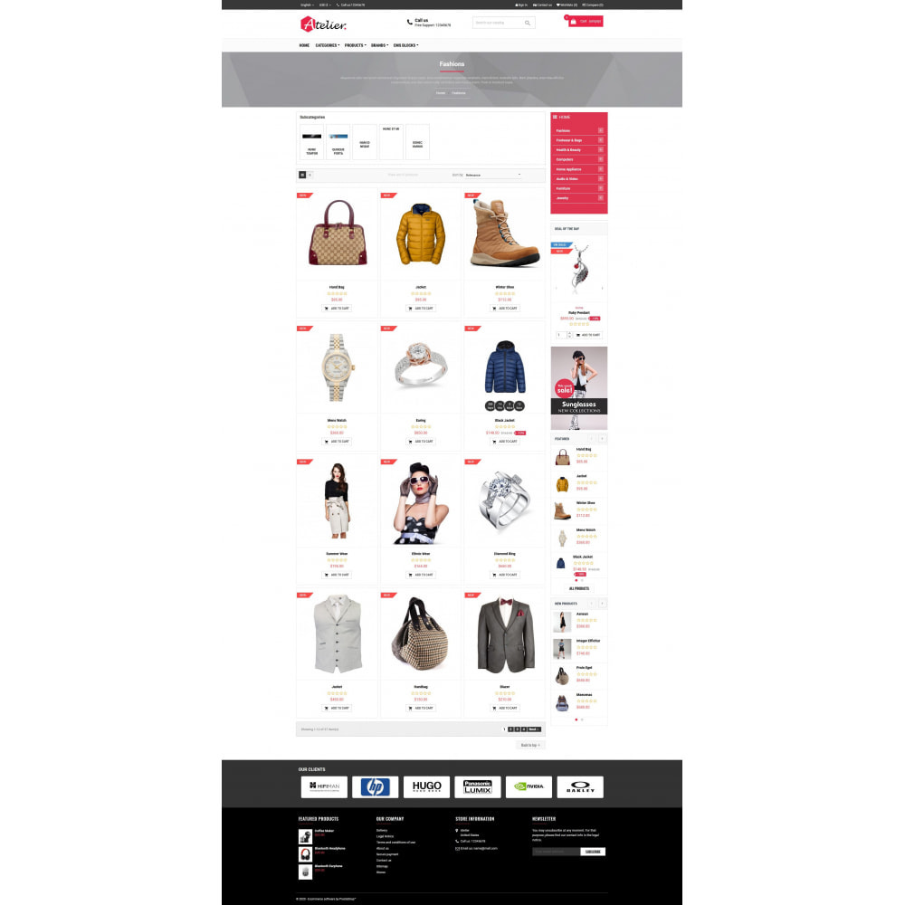 theme - Moda & Calçados - Atelier Fashion Multipurpose HTML5 - 3