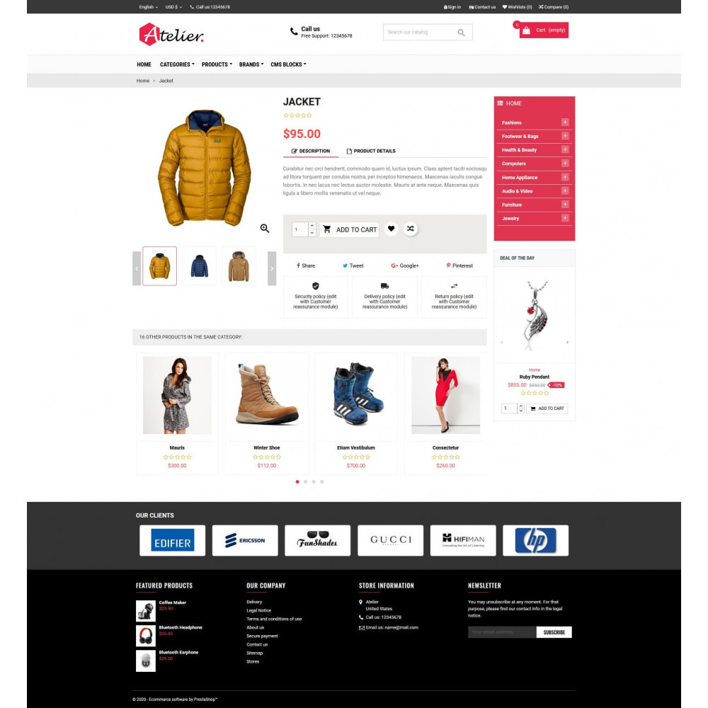 theme - Moda & Calçados - Atelier Fashion Multipurpose HTML5 - 4